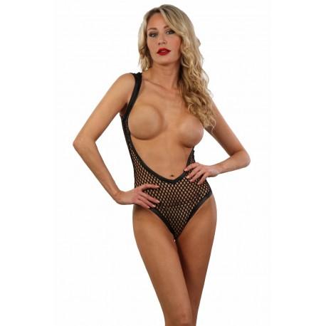 Body seins nus large résille