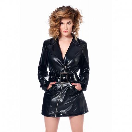Robe Angela et sa ceinture en faux cuir