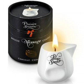 Bougie de massage gourmande chocolat - Plaisir Secret