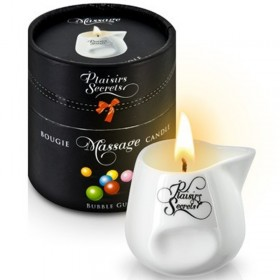 Bougie de massage gourmande bubble gum - Plaisir Secret