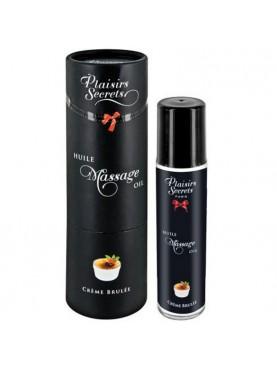 Huile de massage crème brulée   - Plaisirs Secrets