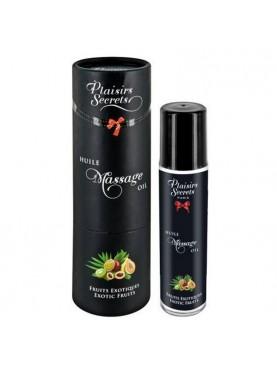 Huile de massage fruits exotiques - Plaisirs Secrets
