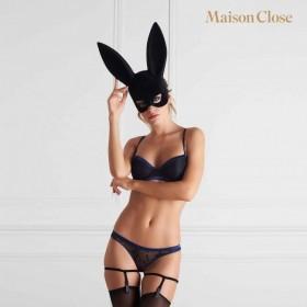 Masque lapin & pompon - Maison Close